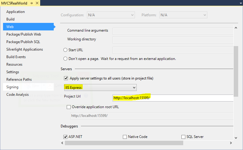 Deploy mvc application in local iis